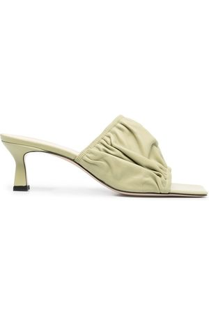 Wandler Ruched slip-on mules