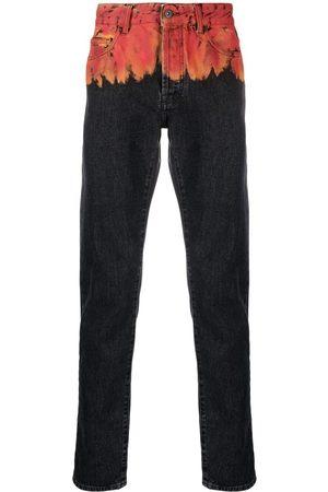 MARCELO BURLON Jeans con motivo de llamas