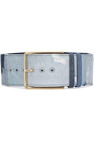 Dolce & Gabbana Cinturón de mezclilla con hebilla dorada