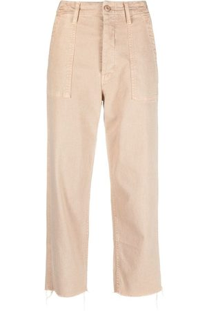 Mother Cropped chino trousers