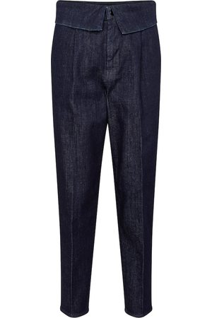 J Brand Fold Over high-rise straight jeans