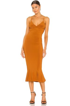 Norma Kamali Vestido en color burnt orange talla L en - Burnt Orange. Talla L (también en XS, S, M, XL).