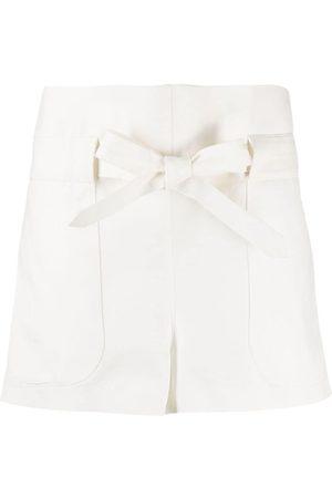 WANDERING Mujer Shorts - Shorts con cordones en la pretina