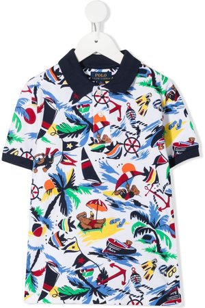 Ralph Lauren Bear print polo shirt