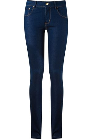 AMAPÔ Mujer Jeans - Vaqueros pitillo con diseño de cinco bolsillos