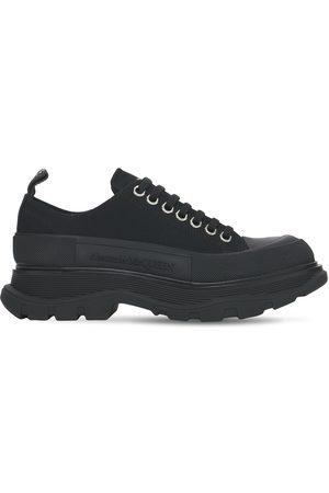 Alexander McQueen Sneakers De Lona De Algodón Con Suela Track 45mm