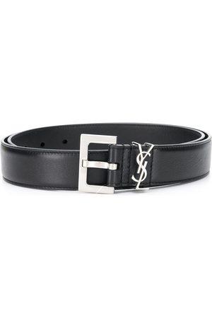 Saint Laurent Mujer Cinturones - Cinturón con placa del logo