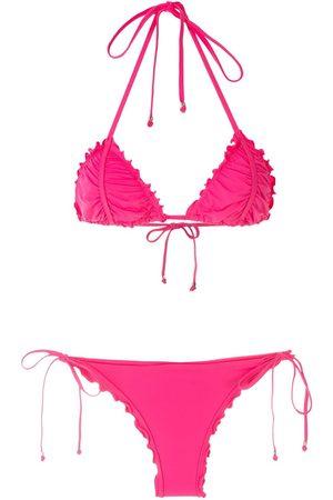 AMIR SLAMA Mujer Bikinis - Bikini con efecto de volantes