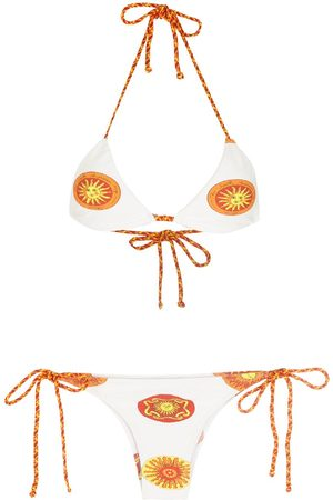 AMIR SLAMA Bikini con estampado Sol