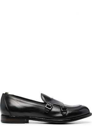 Officine creative Double buckle monk shoes