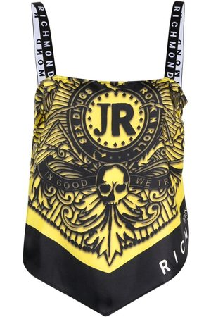 John Richmond Camiseta de seda con logo estampado