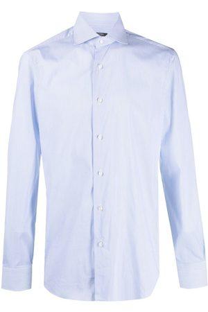 BARBA Camisa de popelina con estampado de rayas