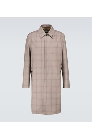 CARUSO Hombre Gabardinas - Prince of Wales checked trench coat