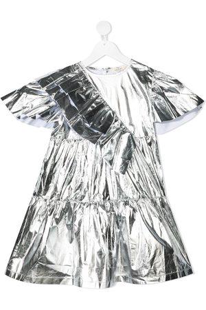 Le pandorine Vestido asimétrico metalizado