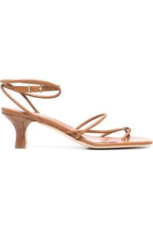 PARIS TEXAS Square-toe leather sandals