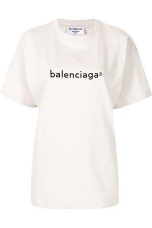 Balenciaga Mujer Playeras - Playera con logo estampado