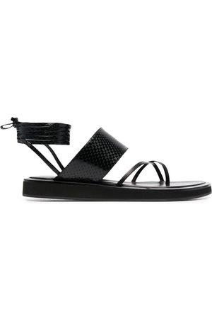 PARIS TEXAS Lizard-effect leather sandals
