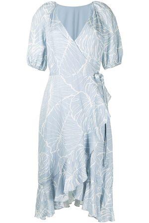 Marchesa Notte Vestido con mangas farol