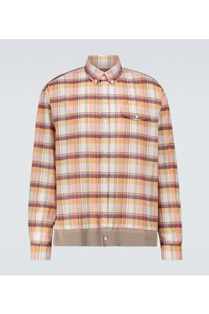 UNDERCOVER Hombre Camisas - Checked long-sleeved shirt