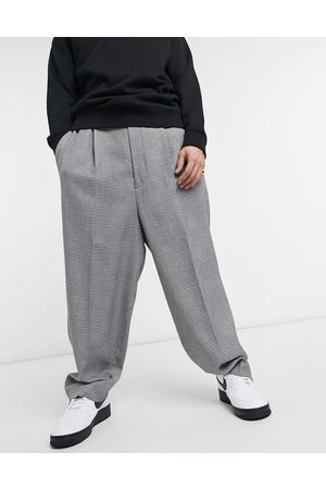 ASOS Balloon smart trouser in grey check