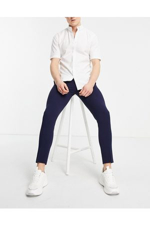 ASOS Super skinny cropped smart trouser in navy