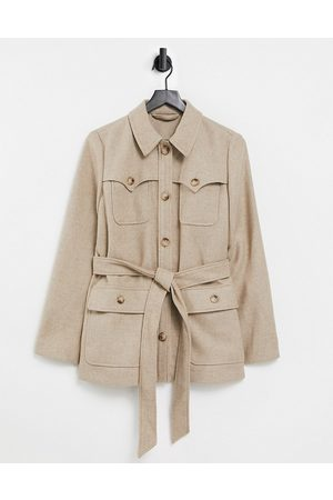 & OTHER STORIES Recycled wool pocket detail belted jacket in