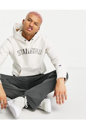 Champion Reverse Weave Stanford hoodie in off white