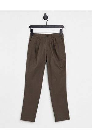 ASOS Cigarette fit ankle grazer chino trousers in brown
