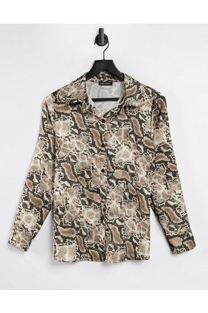 I saw it first Satin shirt in snake print