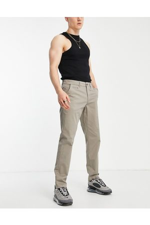 New Look Slim chino trousers in dark grey