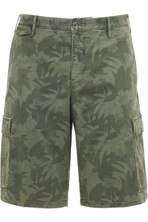 Pantaloni Torino Shorts De Algodón Stretch Con Estampado Camuflaje