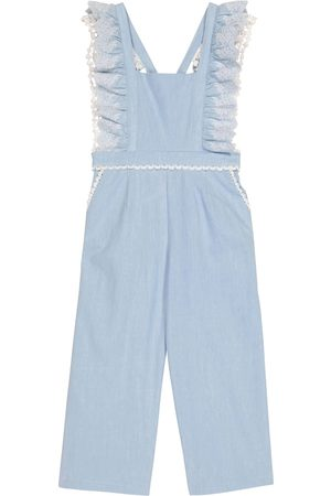 Louise Misha Mujer Overoles - Fiorino lace-trimmed cotton overalls