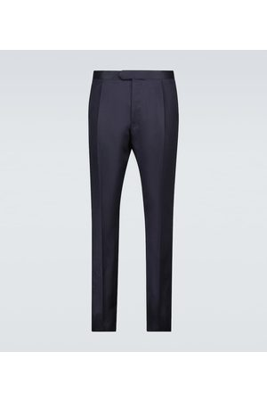CARUSO Hombre Pantalones y Leggings - Tailored silk and linen pants