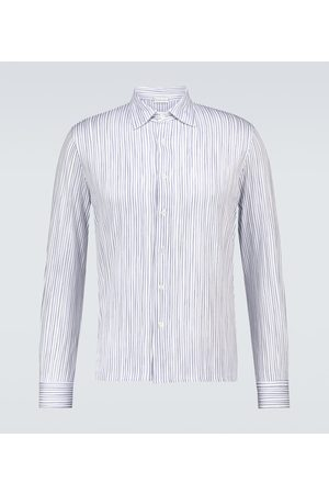 CARUSO Hombre Camisas - Long-sleeved striped cotton shirt