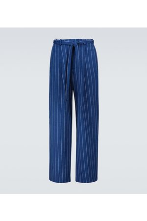 King and Tuckfield Grant pinstriped cotton pants