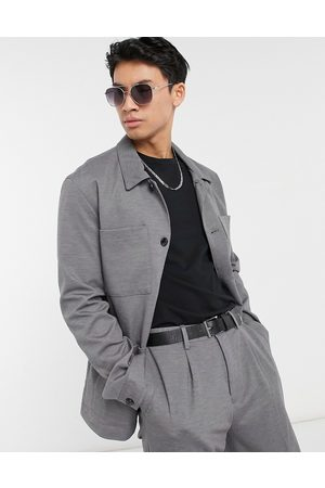 SELECTED Jersey boxy suit jacket slim fit in grey