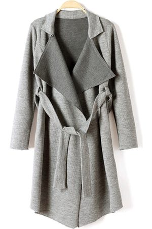 YOINS Belted Knit Trench Coat