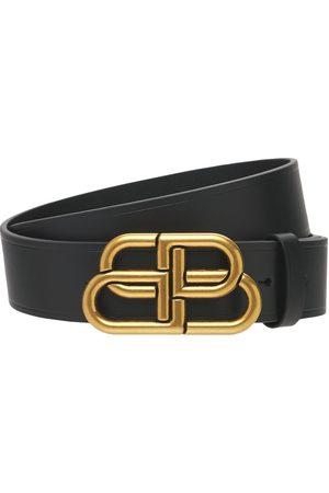 Balenciaga Cinturón De Piel Con Hebilla Con Logo