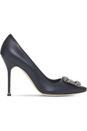 """Manolo Blahnik Zapatos """"hangisi"""" De Piel 105mm"""