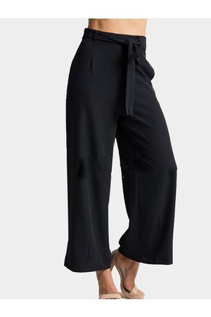 Yoins Palazzo Pants Cropped Trousers with Belt