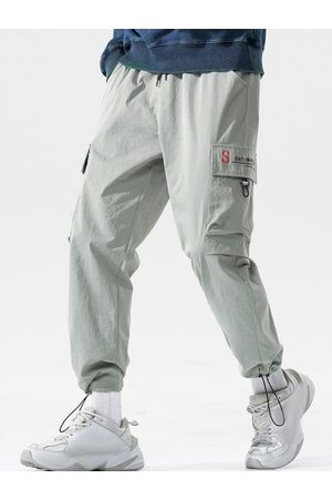 Zaful Letter Pattern Toggle Cuff Cargo Pants