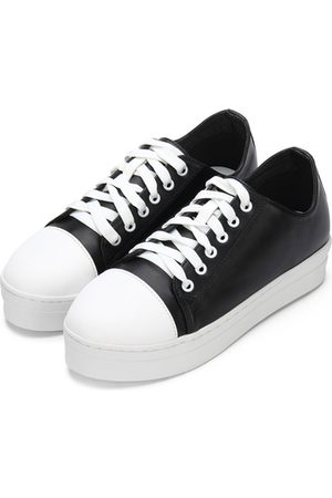 Yoins Round Toe Lace Up Platform Sneakers