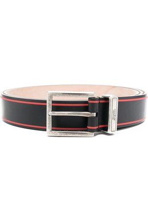 Alexander McQueen Hombre Cinturones - Cinturón con hebilla y logo