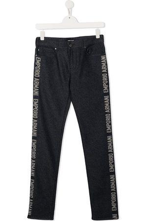 Emporio Armani Niño Jeans - Jeans con logo lateral