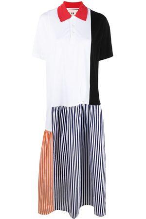 Plan C Mujer Camiseros - Vestido camisero con diseño colour block