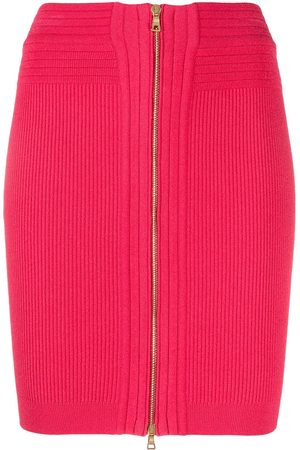 Balmain Mujer Minifaldas - Minifalda tejida con cintura alta