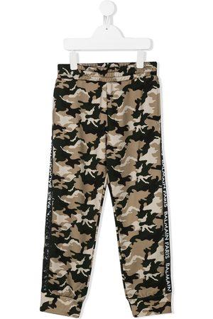 Balmain Pants con estampado militar