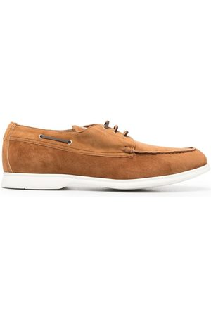Kiton Zapatos top sider de gamuza