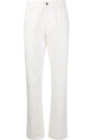 Salvatore Ferragamo Jeans rectos con parche del logo