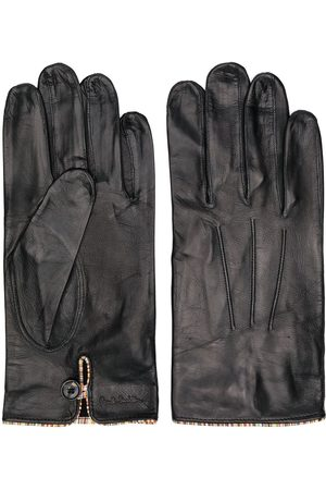 Paul Smith Hombre Guantes - Striped trim leather gloves